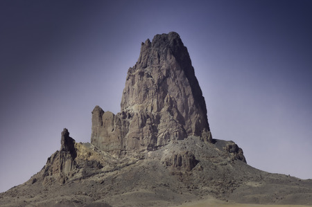 rock formation: Volcanic rock formation of Monument Valley, Arizona, USA Stock Photo