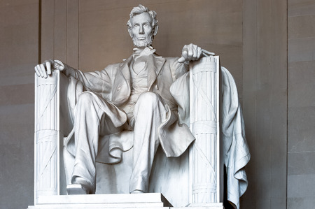 Washington, USA - June 24, 2007 : Abraham Lincoln statue to honor the 16th President of United States located at the Lincoln Memorial, in Washington, D.C.,