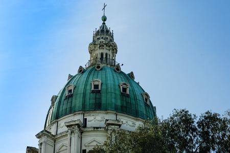 buon: close view of Madre del Buon Consiglio church , imitation of St Peter