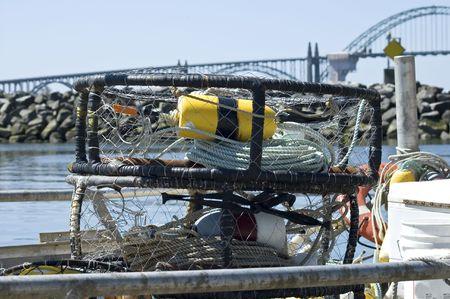 grasp: Fisherman gears in  port of Oregon, USA