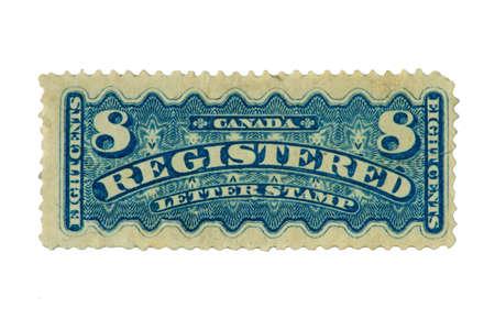 1901 年のカナダの郵便番号の登録のスタンプです。 写真素材