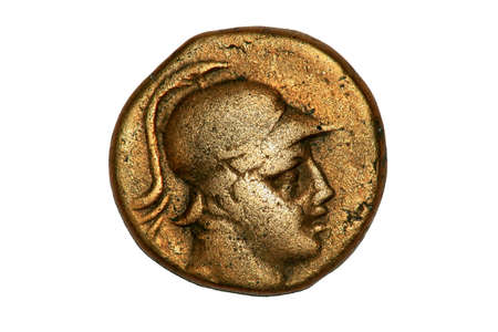 Ancient Greek Coin showing Corinthian Solder, 3rd century BC.