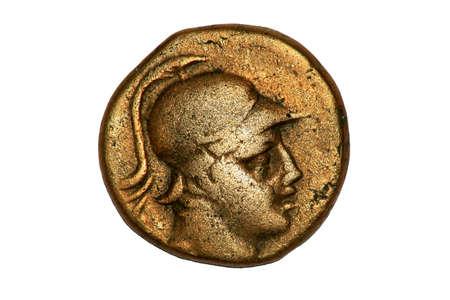 3rd century: Ancient Greek Coin showing Corinthian Solder, 3rd century BC.