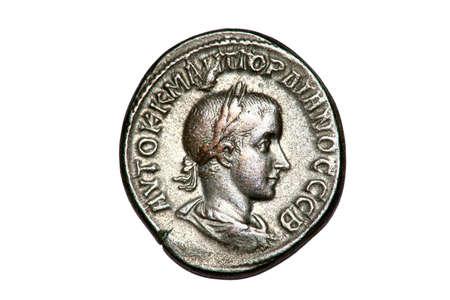 ゴルディアヌス 3 世のローマ銀貨テトラドラクマ、† 238 244AD。