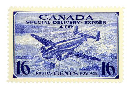1942 年のカナダの航空郵便のスタンプです。 写真素材