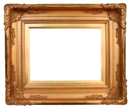 金色の金図枠を挿入するための準備。