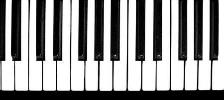 ピアノの鍵盤を黒と白 写真素材