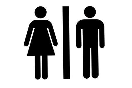 女性男性の洗面所やトイレのアイコン