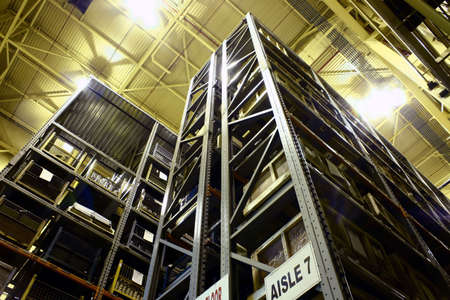 warehouse: High-rise Industrial Parts Warehouse.