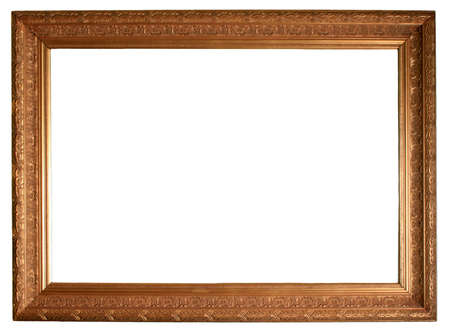 insertion: Gilded gold picture frame ready for your insertion.