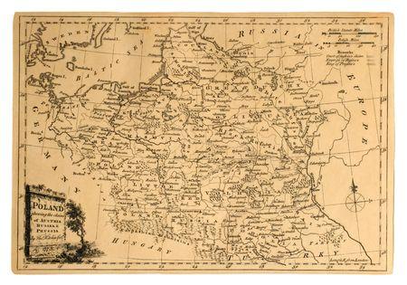 ポーランド、1773 年に、印刷のビンテージ地図国のパーティションが表示されます。