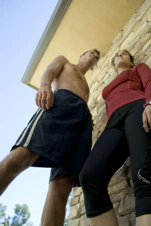 Portrait of an active man and woman Stock Photo