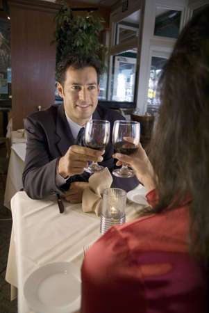 Couple enjoying a romantic dinner