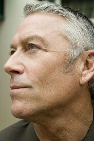 cousin: Portrait of an older mans face