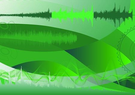 spectrum analyzer, abstract background   Vector