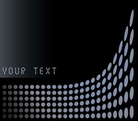 halftone: Dot background in vector