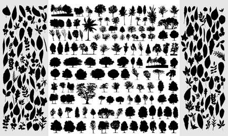 Trees, grass, plant vector Stock Vector - 3842367
