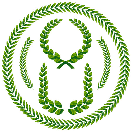 laurel wreath. This image is a vector illustration  Stock Vector - 3883907