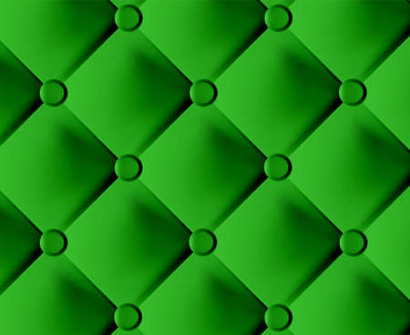 Green stylish fabric with knobs Illustration