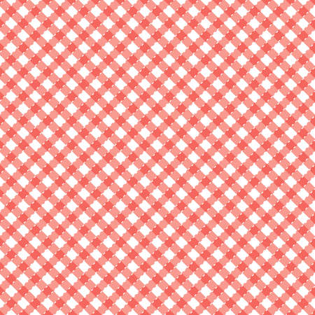 Red and white popular background pattern for picnics Vector