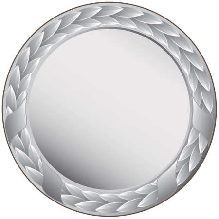 silver medal: silver medal - This image is a vector illustration and can be scaled to any size without loss of resolution
