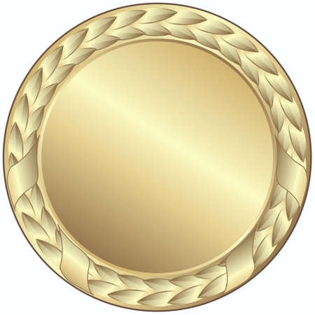 gold medal - This image is a vector illustration and can be scaled to any size without loss of resolution Stock Vector - 4231044