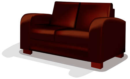 Dark Sofa over white backgrund - This image is a vector illustration and can be scaled to any size without loss of resolution Vector