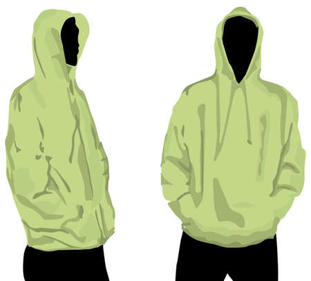 Mens sweatshirt template with human body silhouette Vector