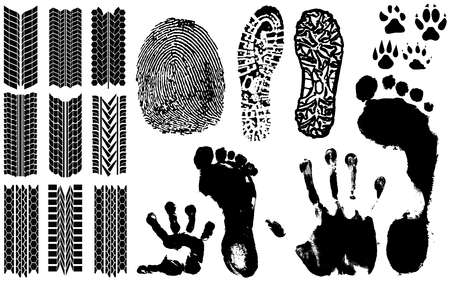 A collection of Vector Fingerprints, Footprints and more Vector