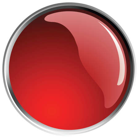 glossy red button balls.  Vector