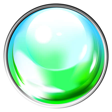 Colored transparent sphere. This image is a vector illustration and can be scaled to any size without loss of resolution. Vector