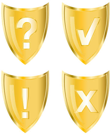 Gold vector icons - This image is a vector illustration and can be scaled to any size without loss of resolution Stock Vector - 4650200