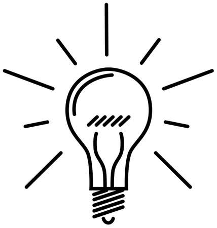 Classic Light Bulb - This image is a vector illustration and can be scaled to any size without loss of resolution