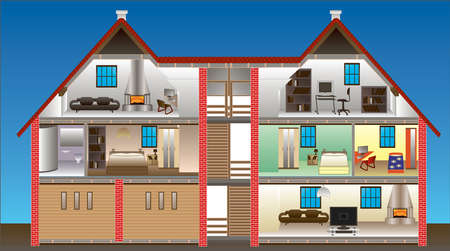 vector house - This image is a vector illustration and can be scaled to any size without loss of resolution Vector
