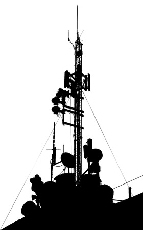 Towers, wired to wireless comm Stock Vector - 4797836