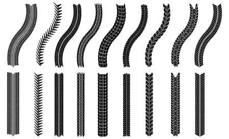 illustration of tires - This image is a vector illustration and can be scaled to any size without loss of resolution Ilustrace
