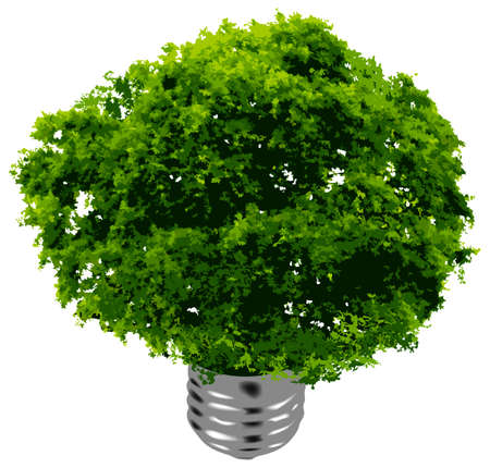 eco energy. This image is a vector illustration Stock Vector - 4966325