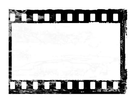 Aged vector illustration of a grunge filmstrip frame. Stock Vector - 5052910