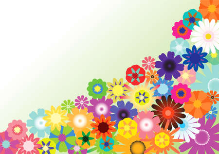 Floral background. This image is a vector illustration and can be scaled to any size without loss of resolution.  Vector