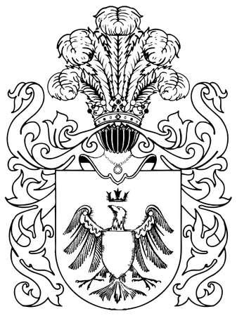 ornate heraldic shields illustration on white background Stock Vector - 5067809