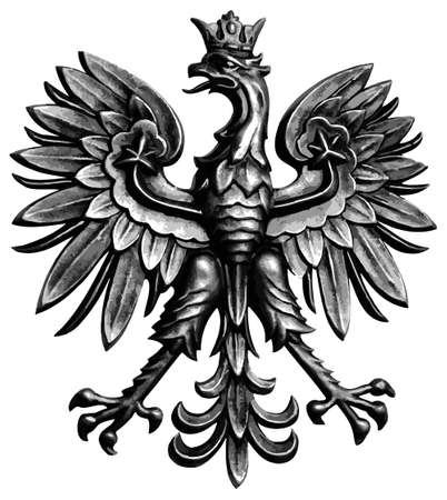 Poland eagle on white background in vector format