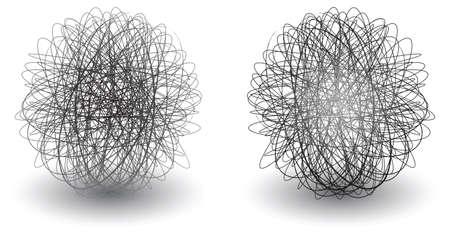 scribble balls icon circle with a drop shadow Stock Vector - 5067811