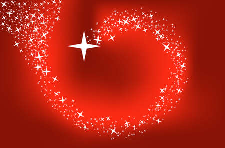 image size: Red background with stars. This image is a vector illustration and can be scaled to any size without loss of resolution Illustration