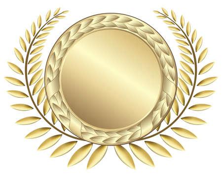 ゴールド賞のリボン。この画像は、ベクター グラフィックと解像度の損失なしに任意のサイズに縮小することができます。  イラスト・ベクター素材