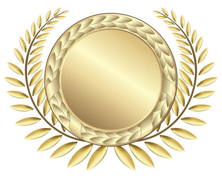 honours: Gold award ribbons. This image is a vector illustration and can be scaled to any size without loss of resolution