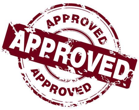 autorizacion: La oficina Grunge sello de goma con la palabra aprobada Vectores