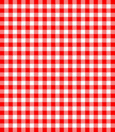 checker: Red and white popular background pattern for picnics
