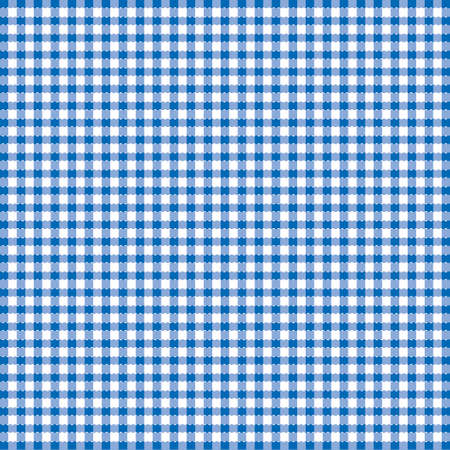 linen texture: Blue and white popular background pattern for picnics Illustration