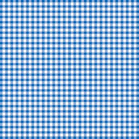 checks: Blue and white popular background pattern for picnics Illustration