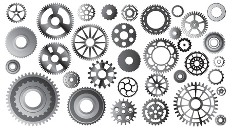bicycle wheel: gear sets Illustration